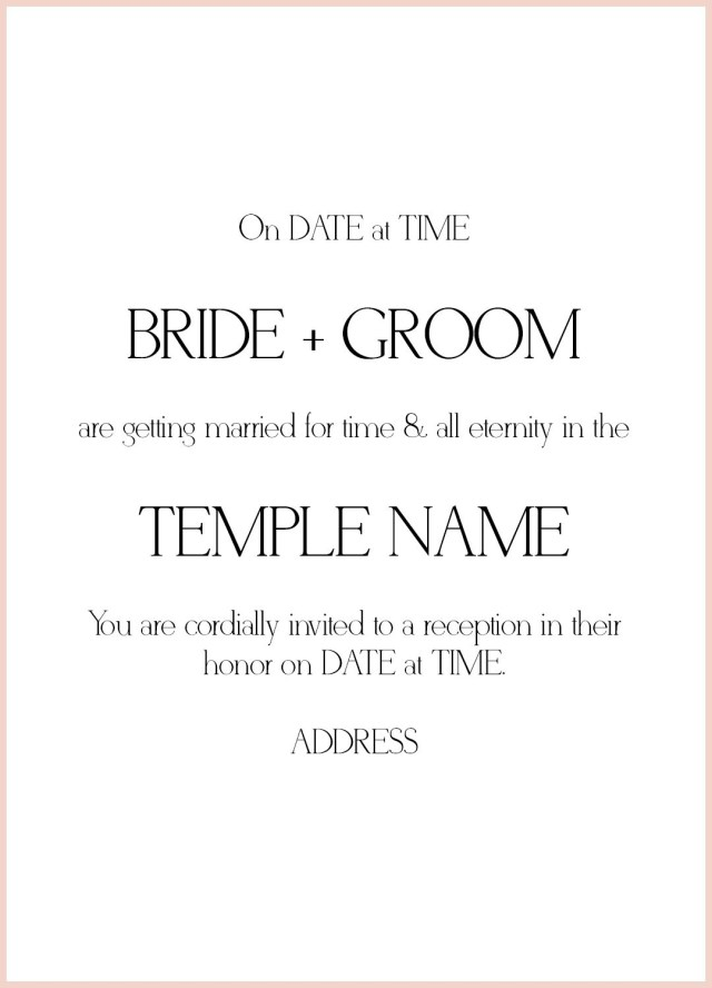 Wedding Invitation Wording Samples 25 Wedding Invitation Etiquette Wedding Invitation Diy