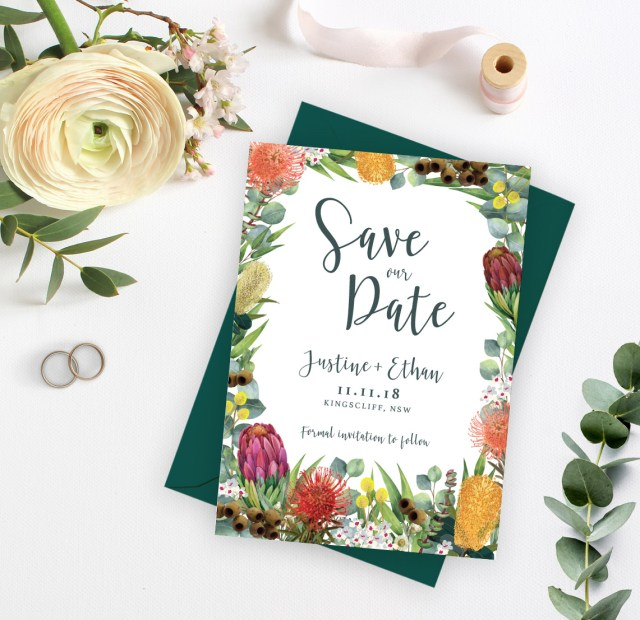 Wedding Invitations And Save The Dates Celebration Save The Date Ficus And Fig Design Custom Wedding
