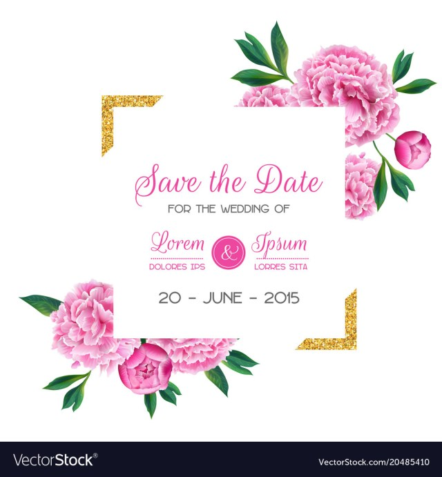 Wedding Invitations And Save The Dates Floral Wedding Invitation Save The Date Card Vector Image
