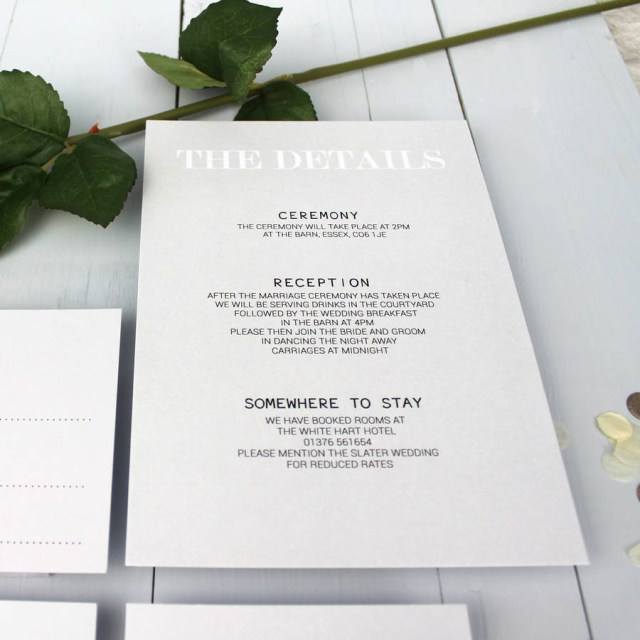 Wedding Invitations Essex Modern Traditional Wedding Invitation Beija Flor Studio