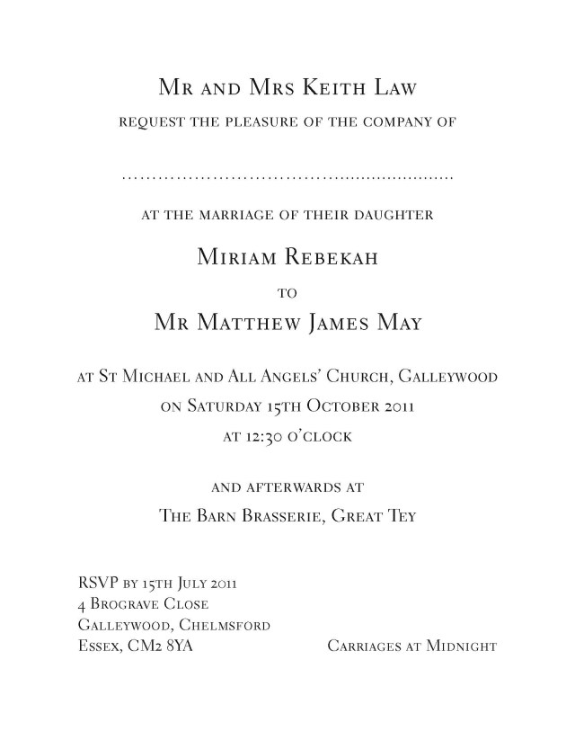 Wedding Invitations Essex Sample Wedding Invitation In Email Inspirationa Sample Wedding