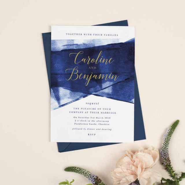 Wedding Invitations Gold Grace Navy And Gold Wedding Invitations Project Pretty