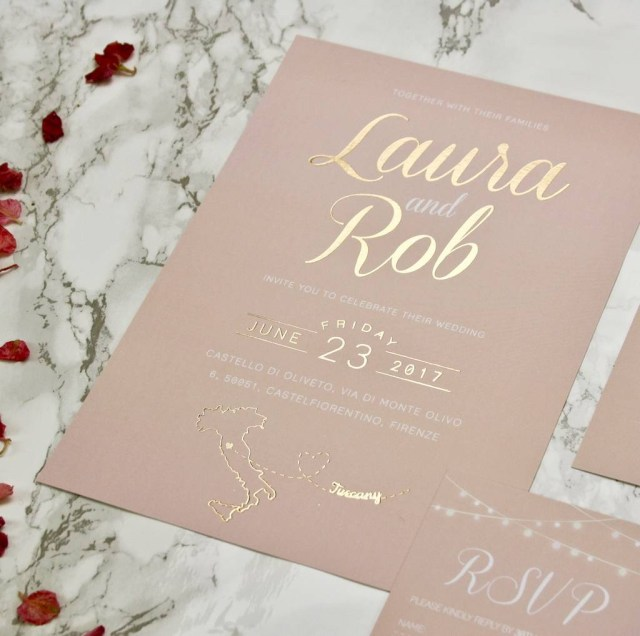 Wedding Invitations Gold Luscious Type Blush And Gold Wedding Invites Rodo Creative