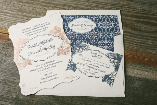 Wedding Invitations Gold Navy And Rose Gold Wedding Invitations Bella Figura