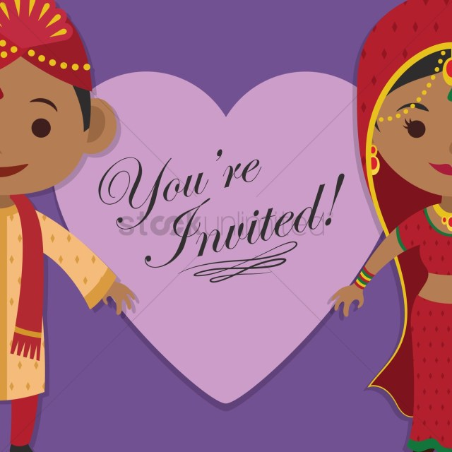 Wedding Invitations Indian Indian Wedding Invitation Vector Image 1244217 Stockunlimited