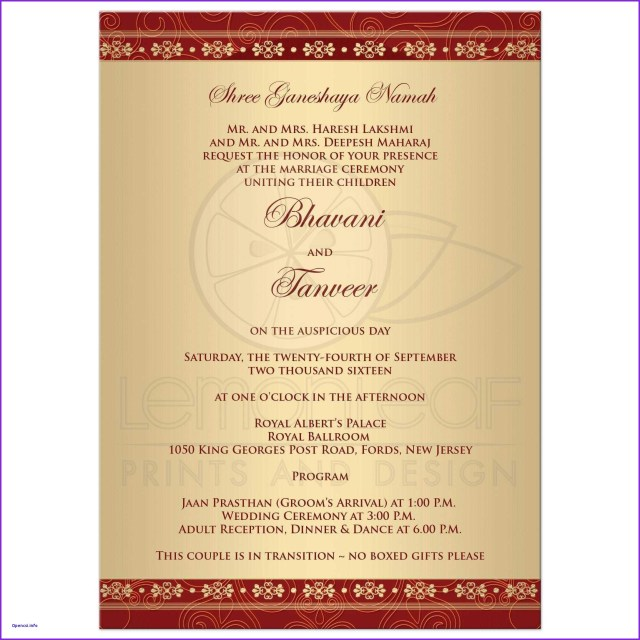 Wedding Invitations Indian Invitations Hindu Wedding Sample Format Of Indian Invitation Card
