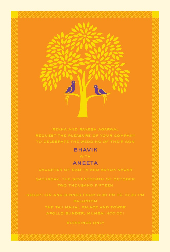 Wedding Invitations Indian Tree Of Life A Modern