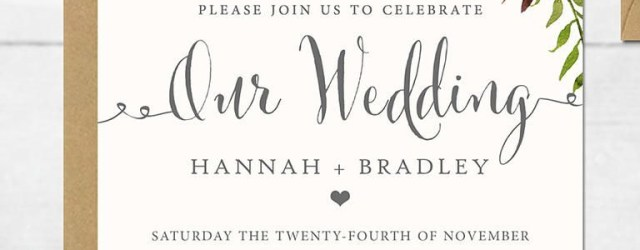 Wedding Invitations Samples 16 Printable Wedding Invitation Templates You Can Diy Wedding