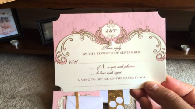 Wedding Invitations Wedding Paper Divas My Blush And Gold Wedding Invitations Wedding Paper Divas Youtube