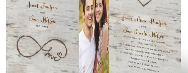 Wedding Invitations With Photos Love For Infinity Zfold Invitation Invitations Dawn