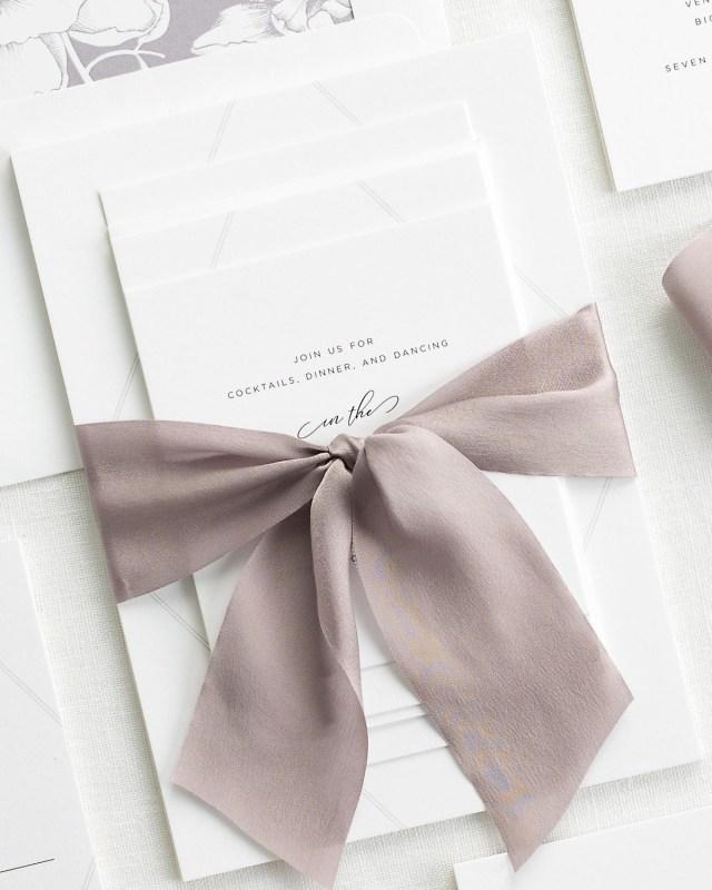Wedding Invitations With Purple Ribbon Bethany Ribbon Wedding Invitations Ribbon Wedding Invitations Shine
