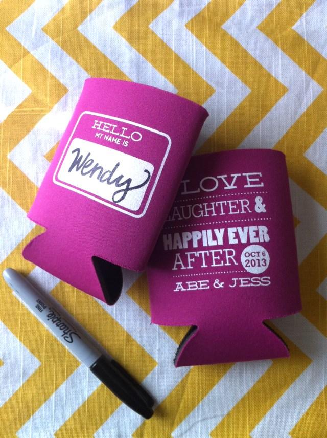 Wedding Koozie Ideas 23 Most Creative Wedding Favor Koozies Ideas For Your Wedding Party