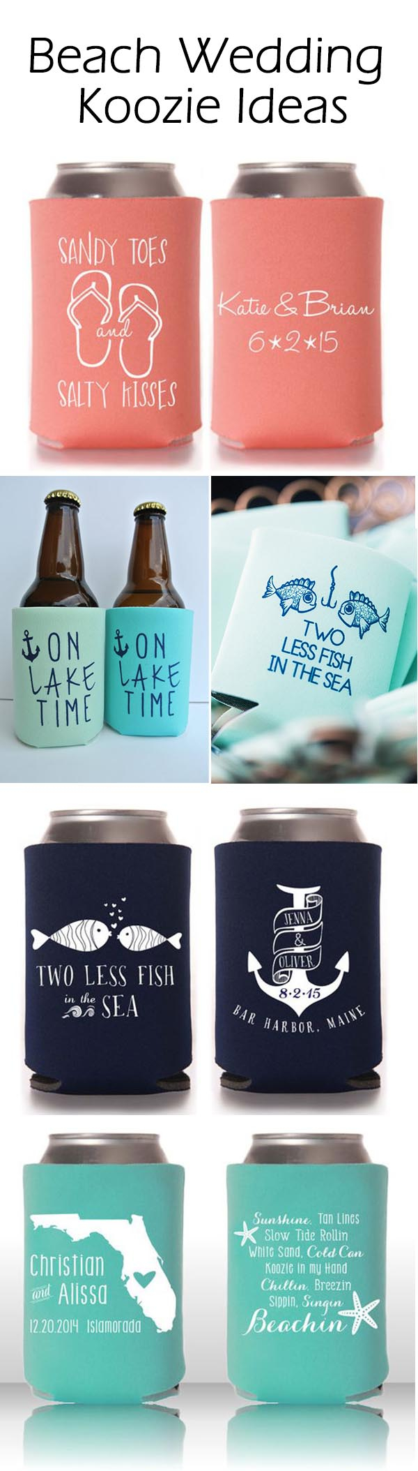 Wedding Koozie Ideas Cool Summer Wedding Ideas With Personalized Koozie Favors