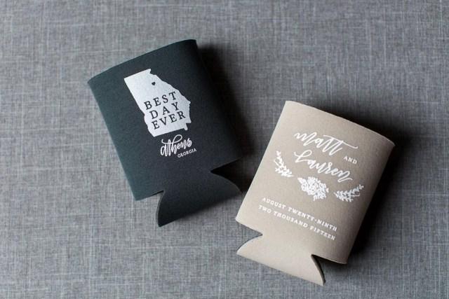 Wedding Koozie Ideas Personalized Wedding Koozie The Celebration Society