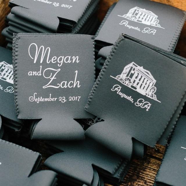 Wedding Koozie Ideas Premium Neoprene Can Coolers Personalized My Wedding Reception Ideas