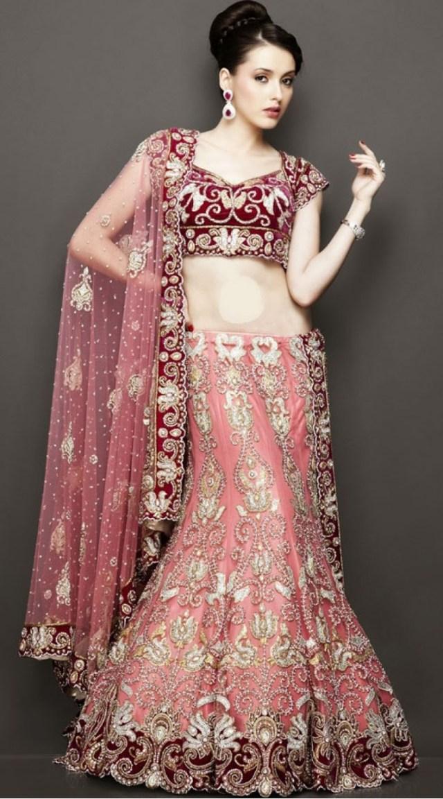 Wedding Lehengas Bridal Modernistic Blush Pink Net Designer Wedding Lehenga With Heavy