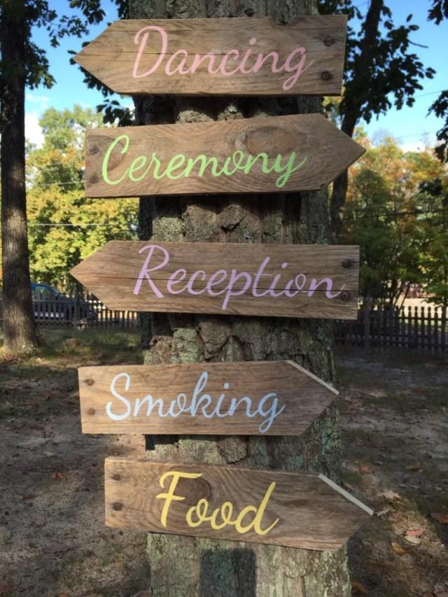 Wedding Pallet Ideas Wedding Arrow Signs Rustic Wedding Pallet Directional Arrows Wedding