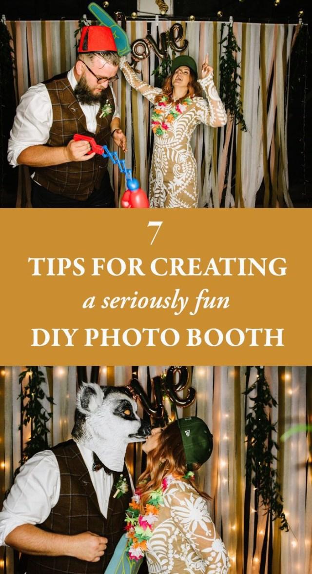 Wedding Photobooth Diy 7 Tips For Creating A Seriously Fun Diy Photo Booth Junebug Weddings