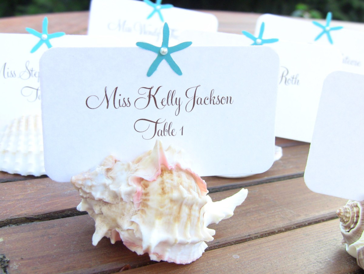 Wedding Placecards Ideas 20 Wonderful Escort And Place Card Ideas For A Beach Wedding Beach