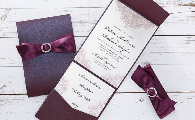 Wedding Pocket Invitations Handmade Wedding Invitations Personalised Wedding Cards