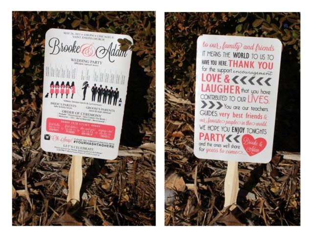 Wedding Program Ideas Diy Wedding Ideas Silhouette Wedding Program