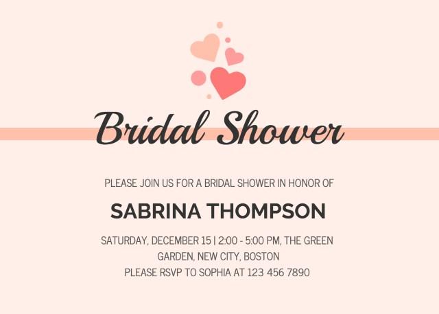 Wedding Shower Invitation 19 Diy Bridal Shower And Wedding Invitation Templates Venngage