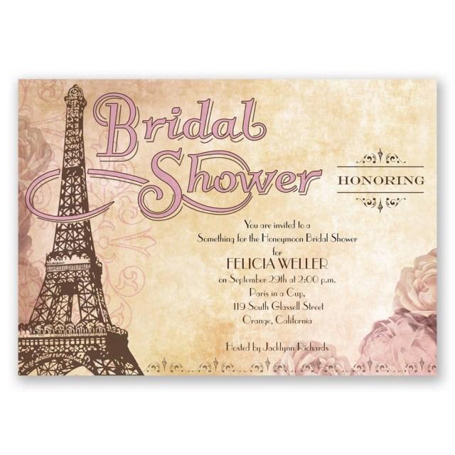 Wedding Shower Invitation Eiffel Tower Bridal Shower Invitation Invitations Dawn