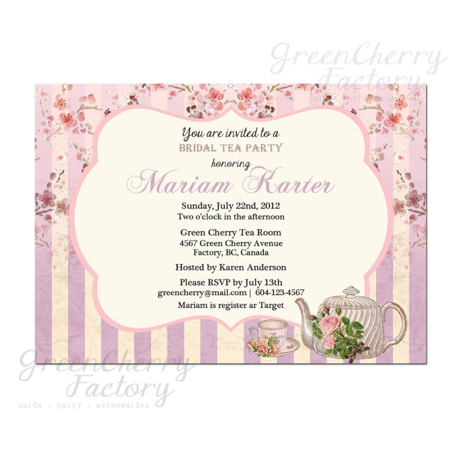 Wedding Shower Invitations Wording Bridal Shower Invitation Wording Afternoon Cool High Tea Party