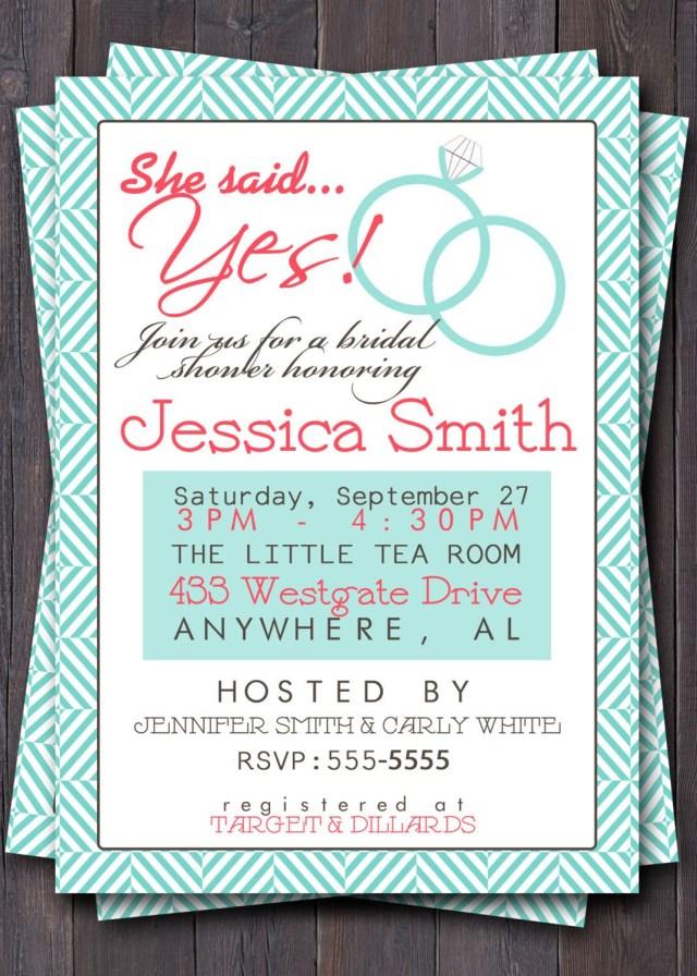 Wedding Shower Invitations Wording Brunch Weddings Wedding Shower Invitationinvite Bridal Shower