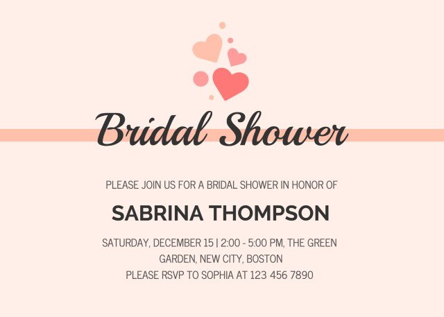 Wedding Shower Invite 19 Diy Bridal Shower And Wedding Invitation Templates Venngage