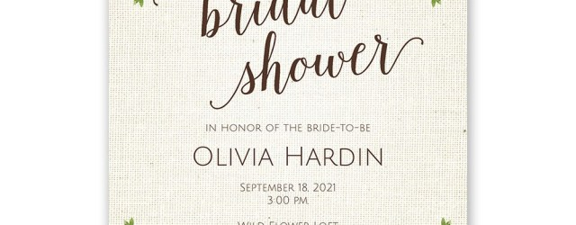 Wedding Shower Invite Botanical Bride Bridal Shower Invitation Invitations Dawn