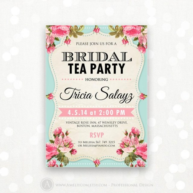 Wedding Shower Invite Printable Bridal Shower Invitation Bridal Tea Party Invite Bridal