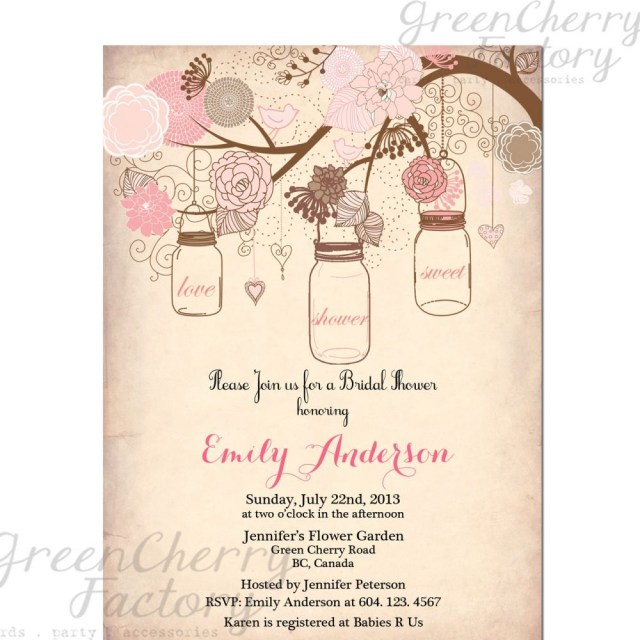 Wedding Shower Invite Vintage Bridal Shower Invitation Templates Free Projects To Try