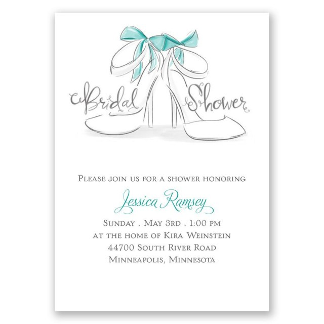 Wedding Shower Invite Wedding Shoes Mini Bridal Shower Invitation Invitations Dawn
