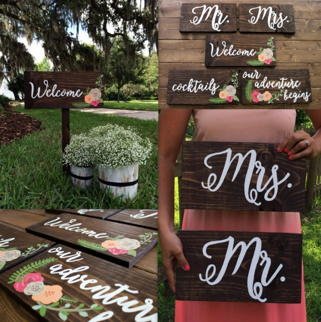 Wedding Signs Diy Diy Calligraphy Wedding Signs