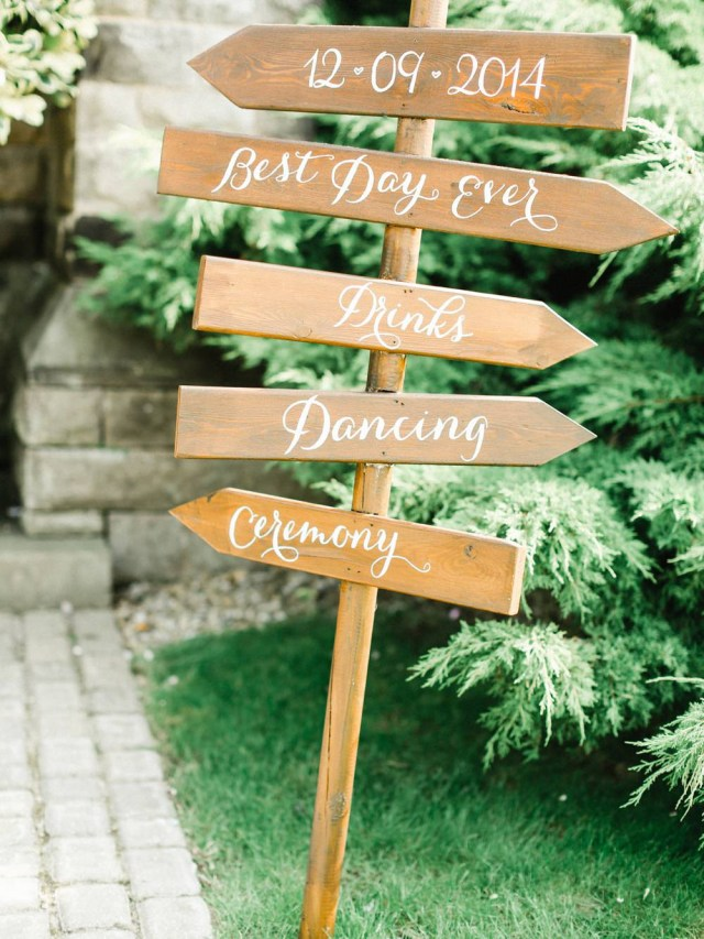 Wedding Signs Diy Stylish Helpful Signage For Your Wedding Day Rock My Wedding