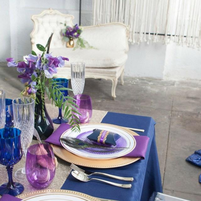 Wedding Table Ideas Elegant Navy And Purple Wedding Table Ideas Fun365