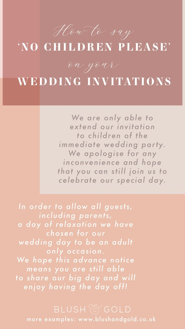 What To Say On A Wedding Invitation How To Say No Children Please On Tour Wedding Invites Wedding In