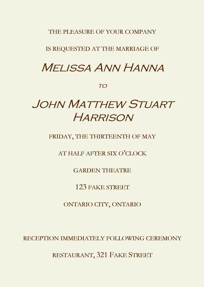 What To Say On A Wedding Invitation Need Help Writing
