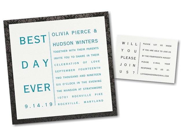 What To Say On A Wedding Invitation Say It Your Way Layered Wedding Invitation