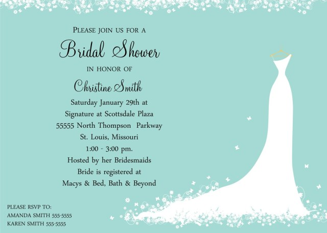 What To Say On A Wedding Invitation Wording For Wedding Shower Invitations All For Wedding