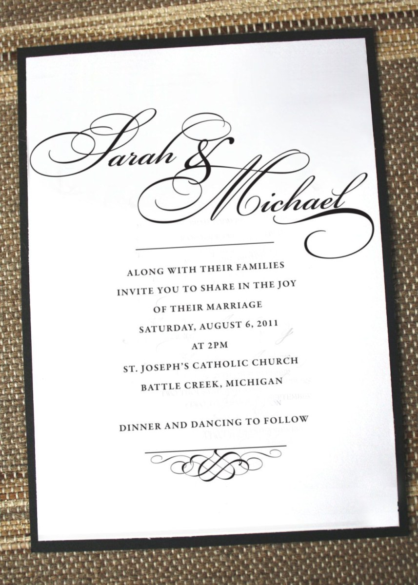 What To Write On A Wedding Invitation Simply Elegant Wedding Invitation Anna Malie Design On Etsy