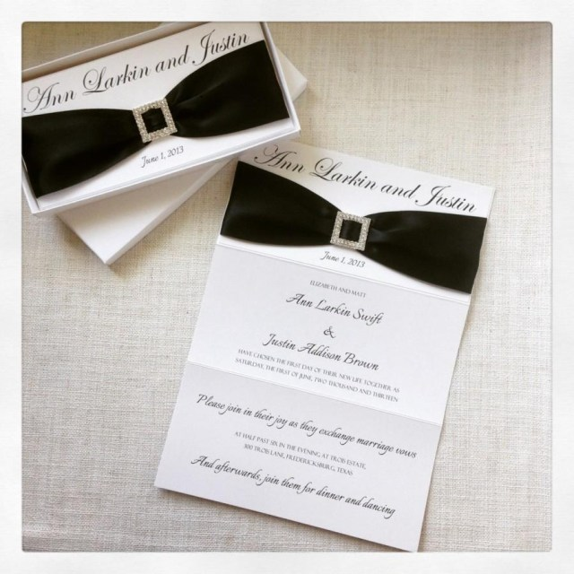White Wedding Invitations Black And White Elegant Wedding Invitation 2461990 Weddbook