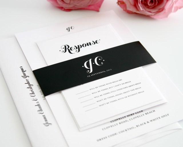 White Wedding Invitations Black And White Wedding Invitations All For Wedding