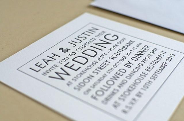 White Wedding Invitations Black White Wedding Invitation Elegante Press