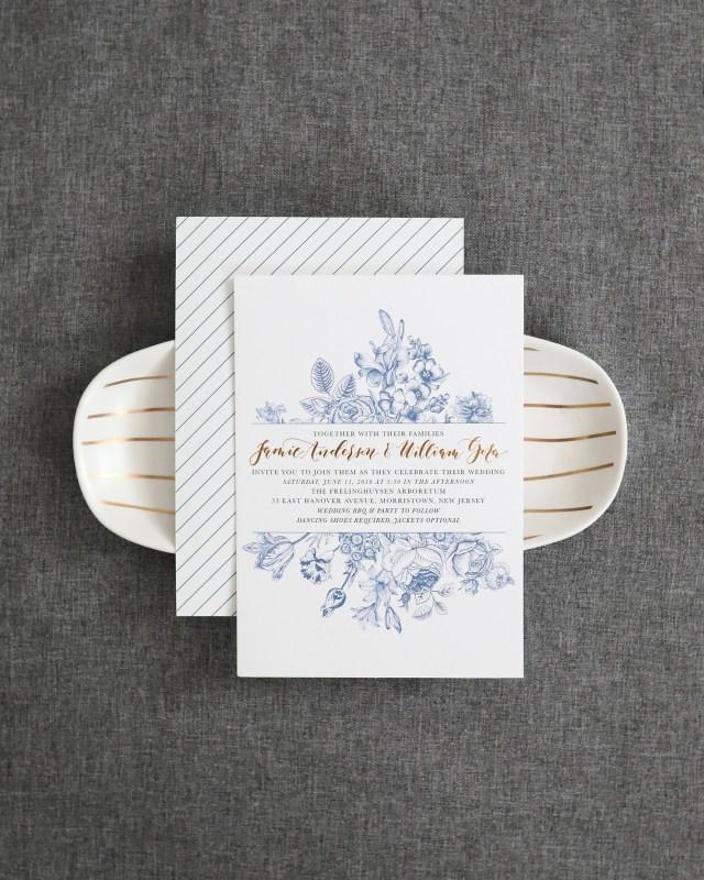 White Wedding Invitations Chinoiserie Inspired Blue And White Wedding Invitations