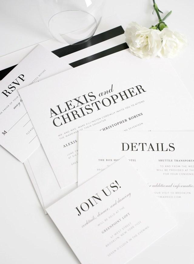 White Wedding Invitations Glamorous Black And White Wedding Invitations Member Board