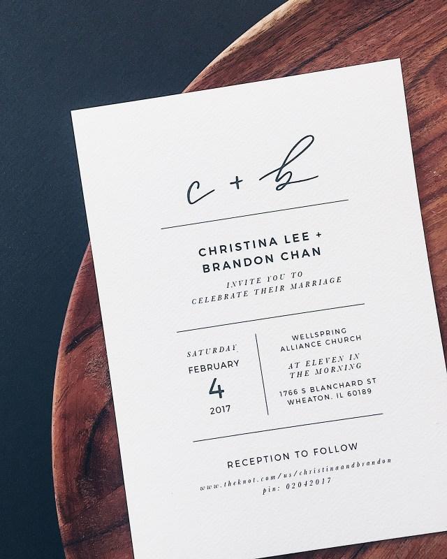 White Wedding Invitations Minimalist Black And White Hand Lettered Wedding Invitations