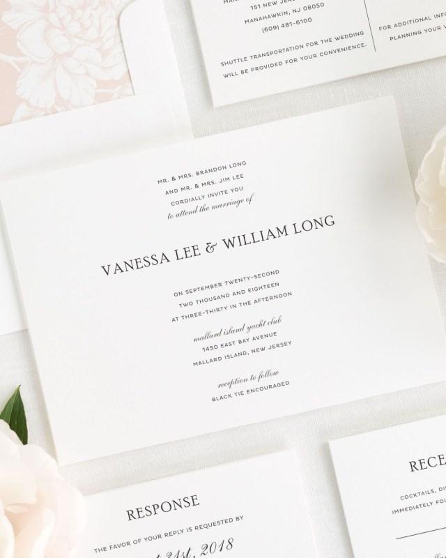 White Wedding Invitations Simple Wedding Invitations In Black And White Wedding Invitations