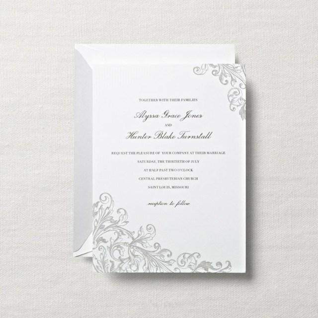 White Wedding Invitations White Wedding Invitations White Wedding Invitations For Best Results